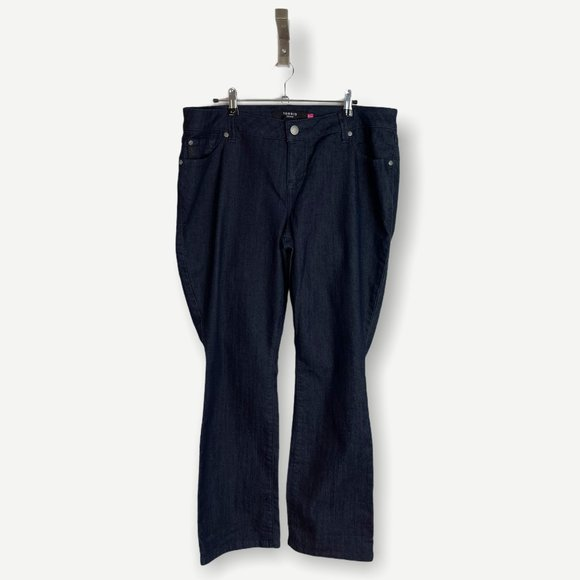 Torrid High Rise Bootcut Jeans Dark Wash